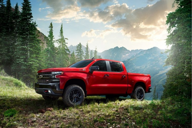 2019 Chevy Chevrolet Silverado red outdoors camping
