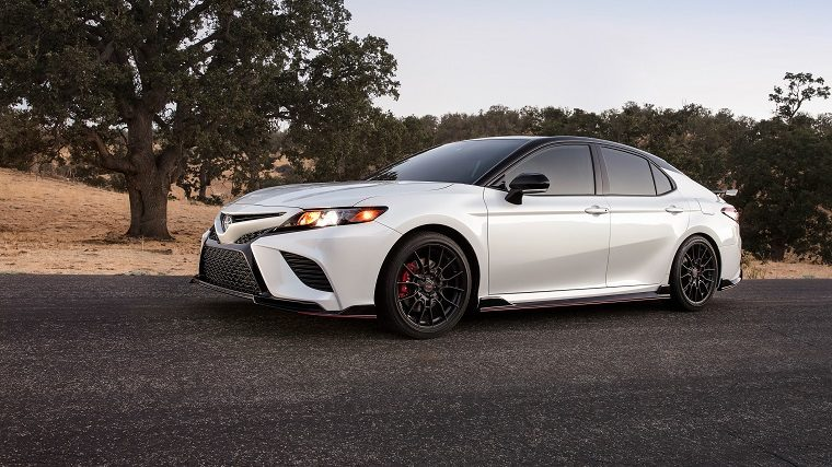 2020 Toyota Camry TRD in Wind Chill Pearl