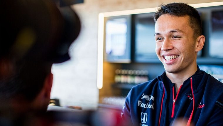 Alexander Albon in 2019 Red Bull shirt