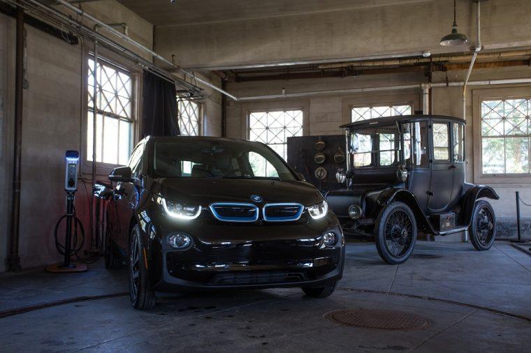 BMW Electric Vehicle Charging Station i3 Thomas Edison National Historic Park West Orange New Jersey