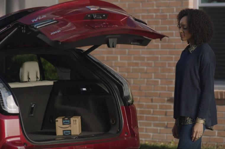 Cadillac Connected Services Key by Amazon In Car Delivery Puppy Prep Commercial