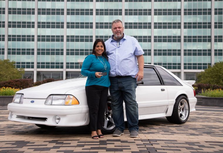 Laura and Wesley Ryan reunited with 1993 Ford Mustang