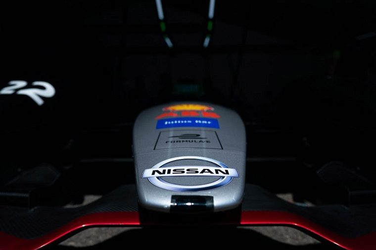 Nissan Logo on Formula E Car