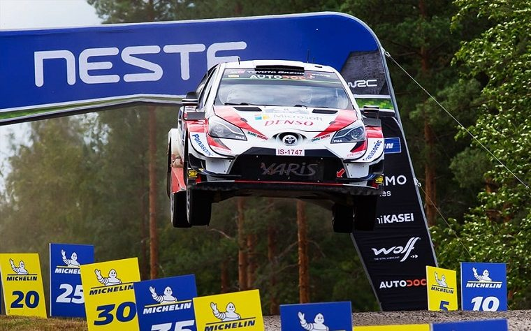 Ott Tanak Catches Air at 2019 Rally Finland