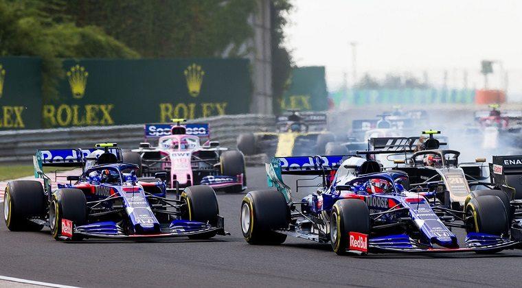Toro Rosso at start of 2019 Hungarian GP