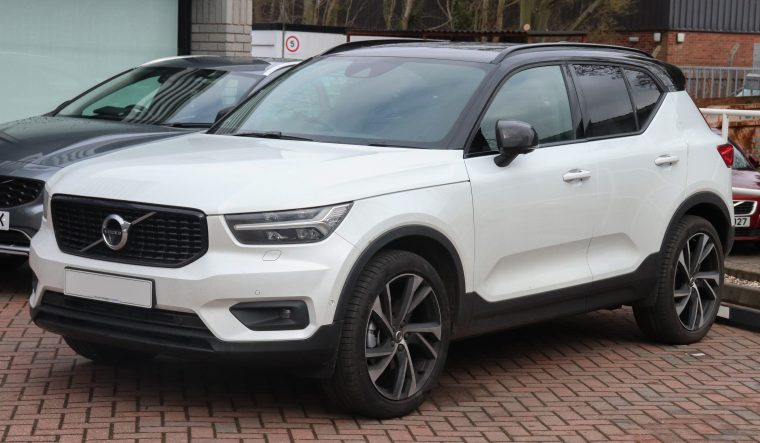 A white Volvo SUV
