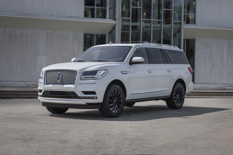 A white Lincoln Navigator