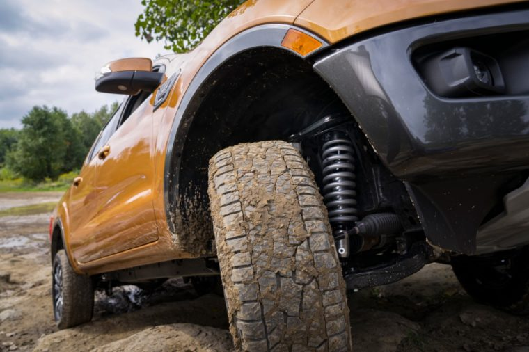 2019 Ford Ranger FOX Shocks off-road leveling suspension kit