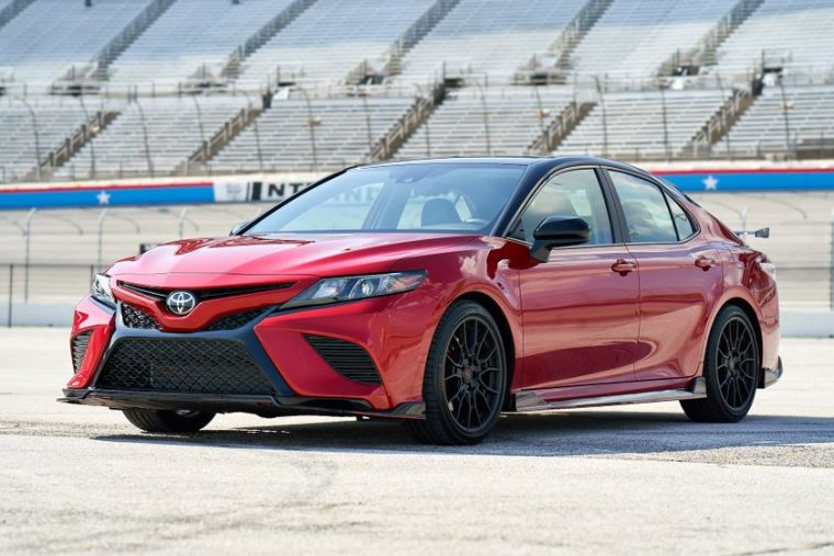 2020 Toyota Camry TRD in Supersonic Red