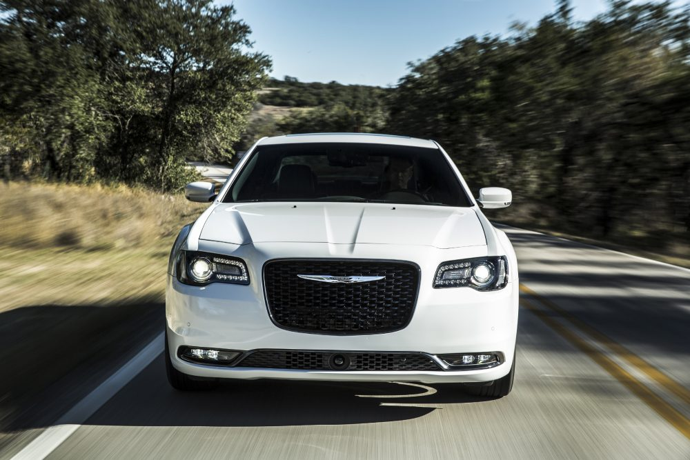 The 2020 Chrysler 300S driving on the street