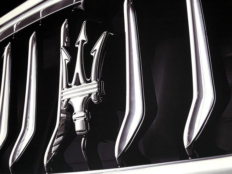 Maserati Logo Closeup