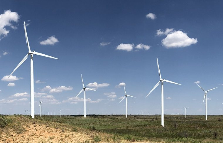 Rendering of Boiling Springs Wind Farm in Oklahoma