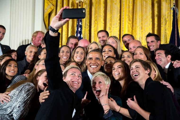 USWNT Soccer Team FIFA World Cup Champions President Barack Obama