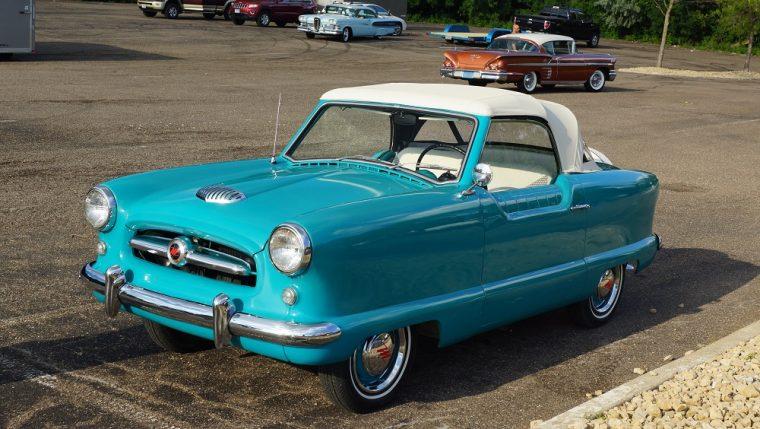 1955 Nash Metropolitan Convertible blue