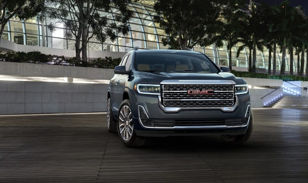 2020 GMC Acadia Denali 2019 Dubai International Motor Show. GMC Acadia gets the Elevation Edition package.