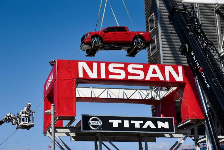 2020 Nissan TITAN is positioned at Nissan Stadium