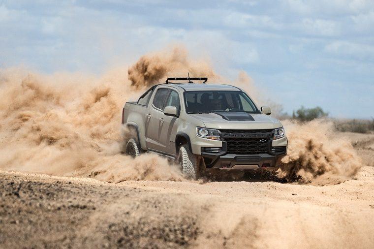 2021 Chevrolet Colorado ZR2 on rocky terrains