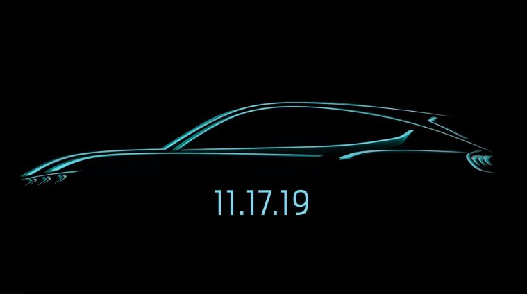 Electric Ford Mustang-inspired SUV debut November 17 | Ford Mach E sketch | Electric Ford Mustang-inspired SUV sketch | Electric Ford Mustang SUV sketch