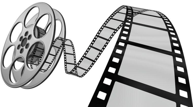 A digital rendering of a film reel