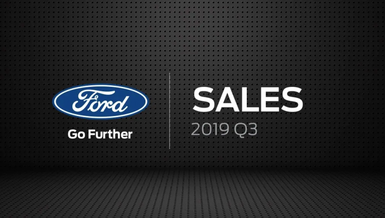 Ford sales Q3 2019 graphic
