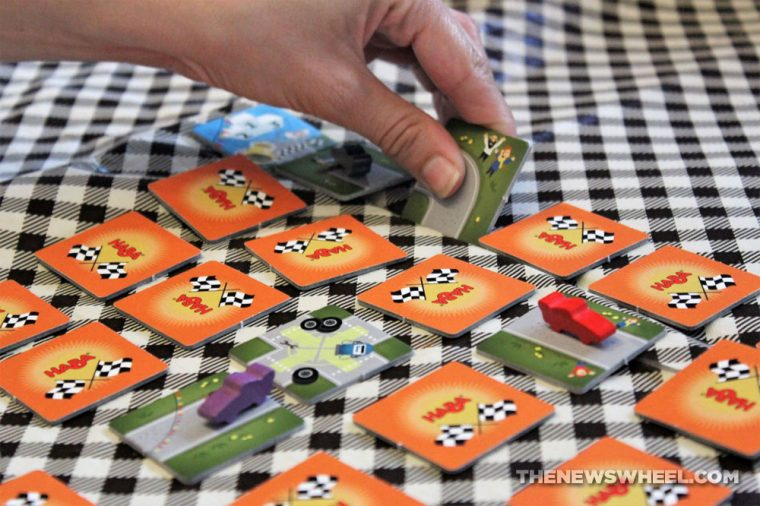 HABA Rally Run game review car racing game for children families tile matching