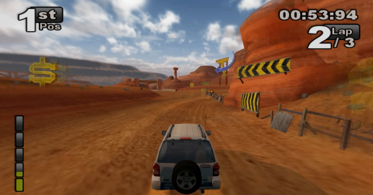 Jeep Thrills video game racing Wii PS2