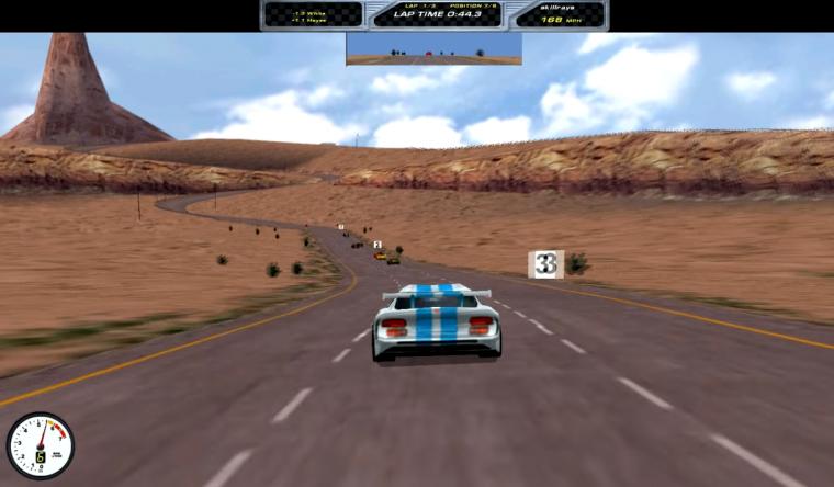 Viper Racing Dodge video game 1998 retro racing PC