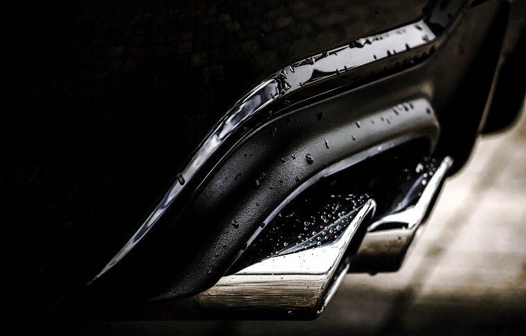 Wet car exhaust