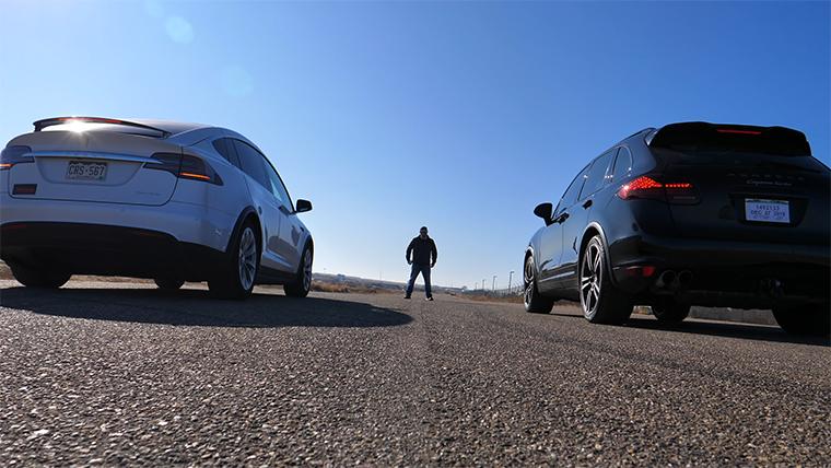 2012 Porsche Cayenne Turbo vs 2019 Tesla Model X