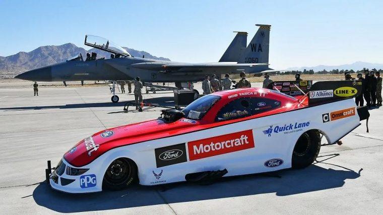 Bob Tasca breaks sound barrier in an F-15 Eagle
