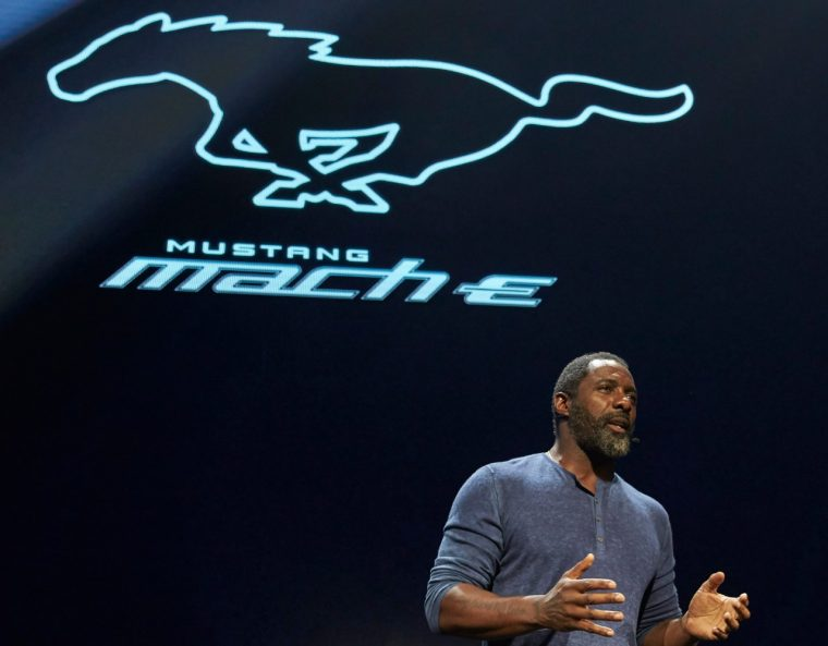 Idris Elba Ford Mustang Mach-E Reveal | Petition to change Mustang Mach-E name