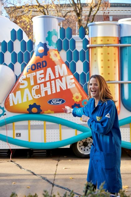 Kate the Chemist with the Ford STEAM Machine Transit XL