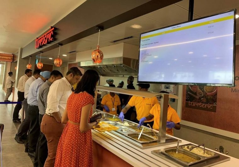 Global Technology and Business Center in Chennai cafeteria