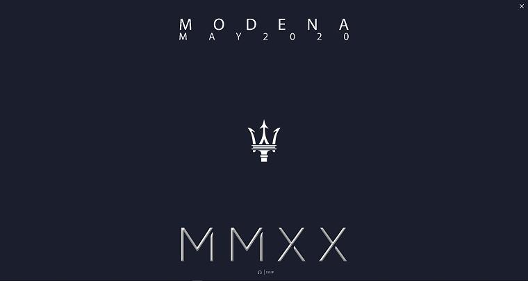 Maserati May 2020 Teaser