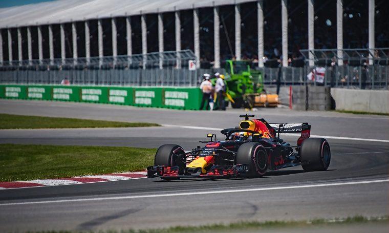 Max Verstappen in Red Bull Racing car