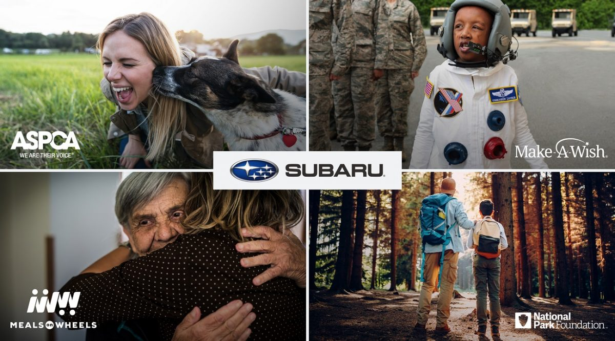 Some of Subaru's partners in the Love Promise. Its most recent event was Facelift: Act Local.