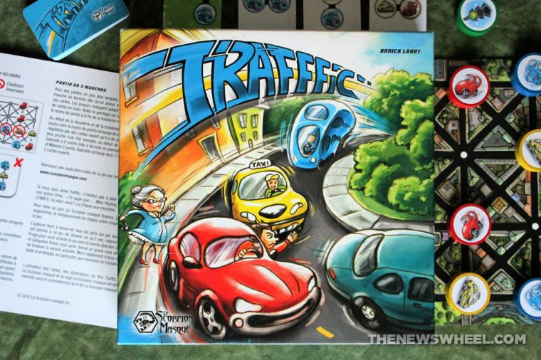 Traffic board game review matching color cars Scorpion Masque buy