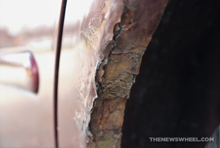 car body rust paint surface rusting damage