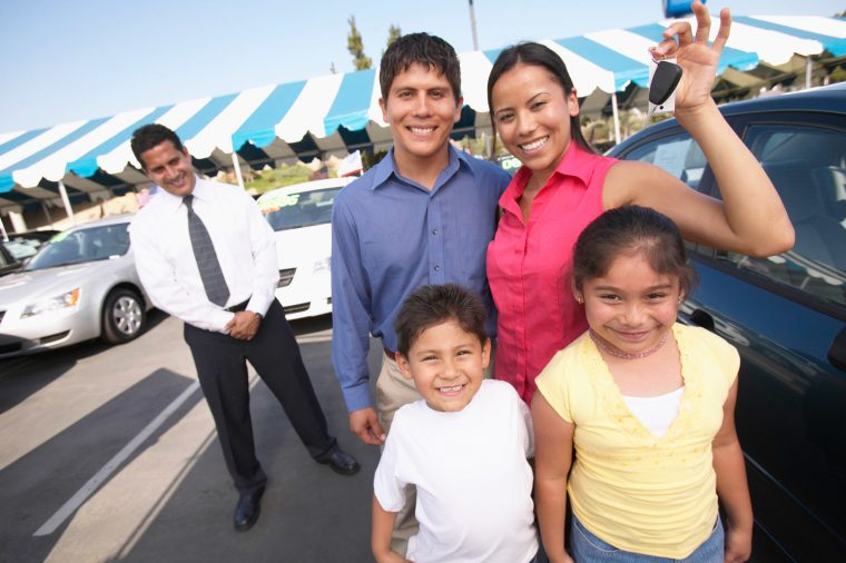 new car dealership hispanic family
