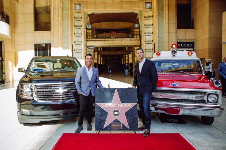 The Hollywood star of the Chevrolet Suburban Walk of Fame