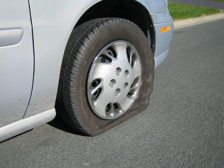 A flat tire