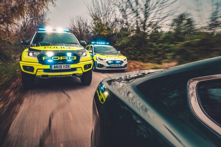 Ford Ranger Raptor and Focus ST   Ford Ranger Raptor UK police