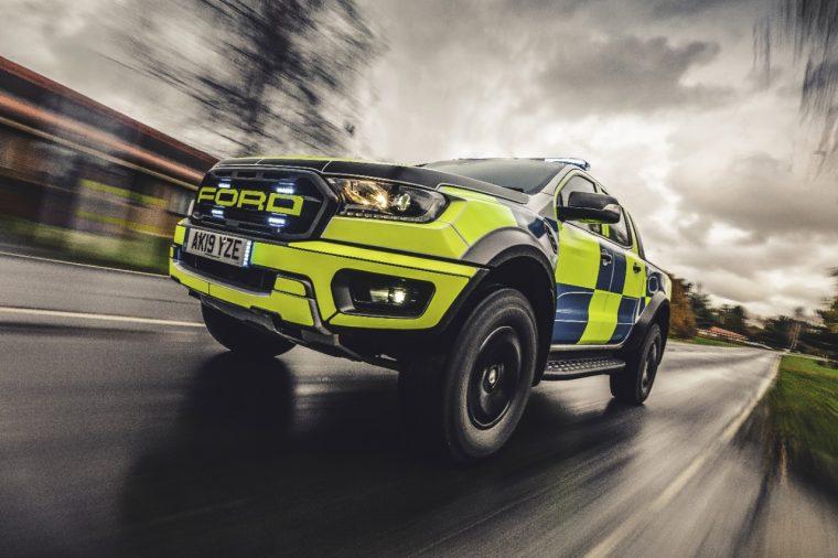 Ford Ranger Raptor police truck