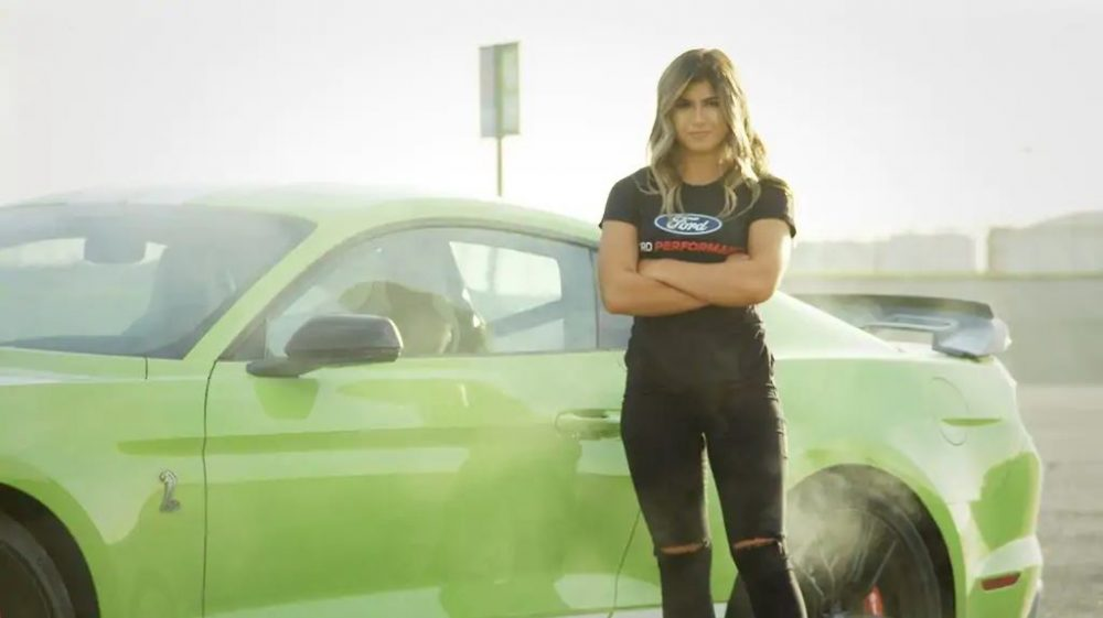 Hailie Deegan Signs with Ford Performance | Ford Gifts Hailie Deegan a New Shelby GT350