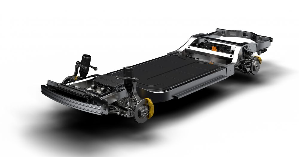 Rivian skateboard chassis Lincoln electric SUV