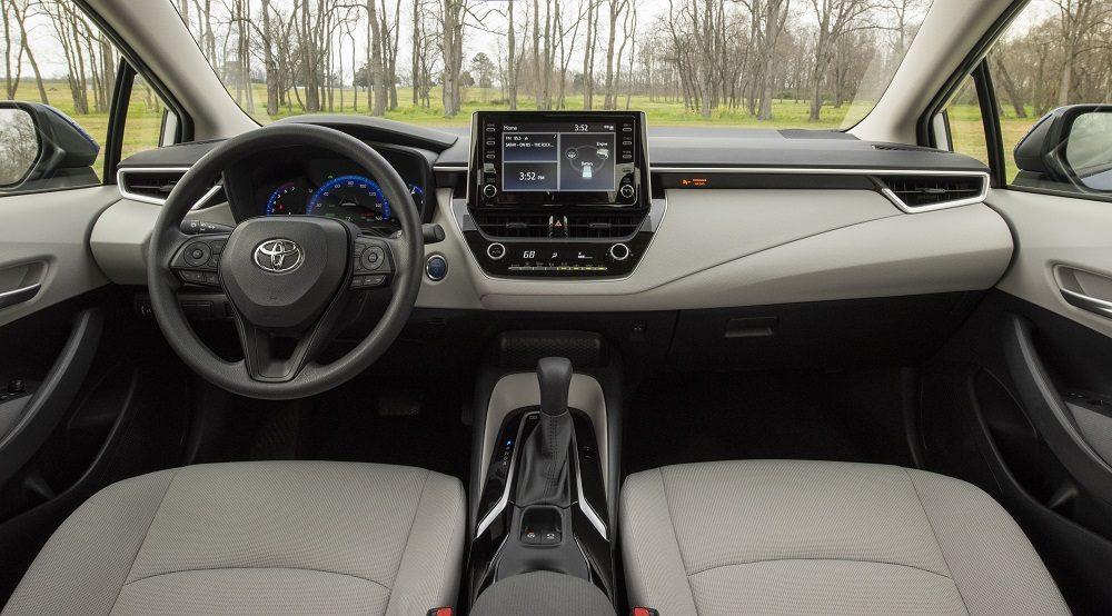 2020 Toyota Corolla Hybrid interior