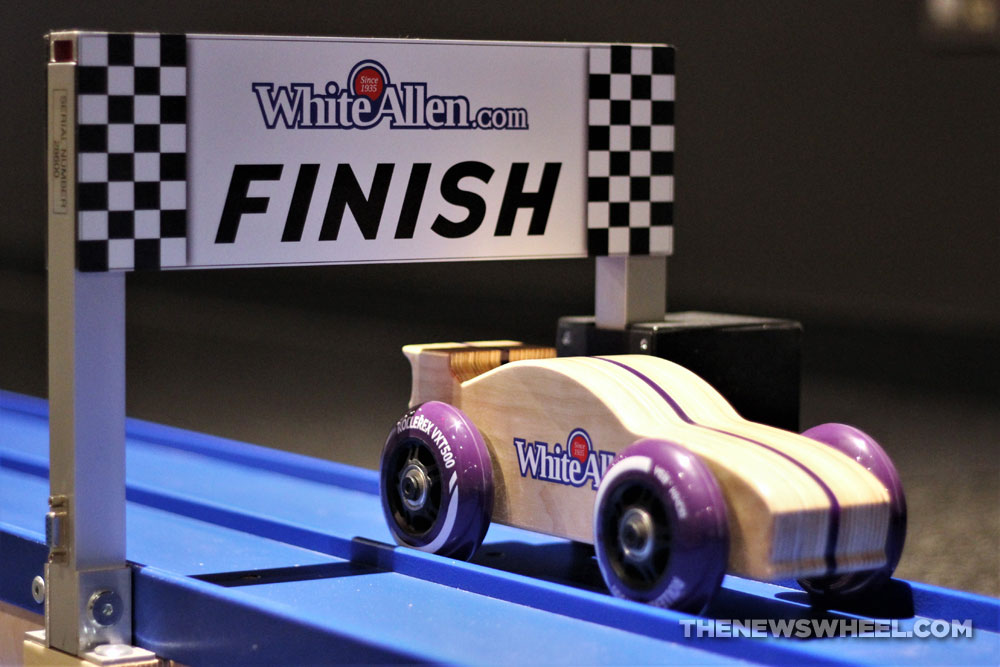 Boonshoft Museum of Discovery Dayton Ohio Children learning educational center White-Allen Racetrack Exhibit Opening finish line