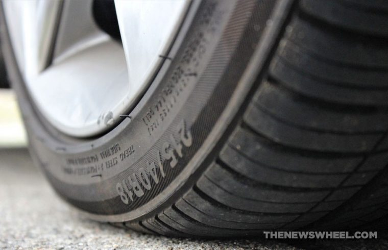 Car tire wheel rubber tread pavement