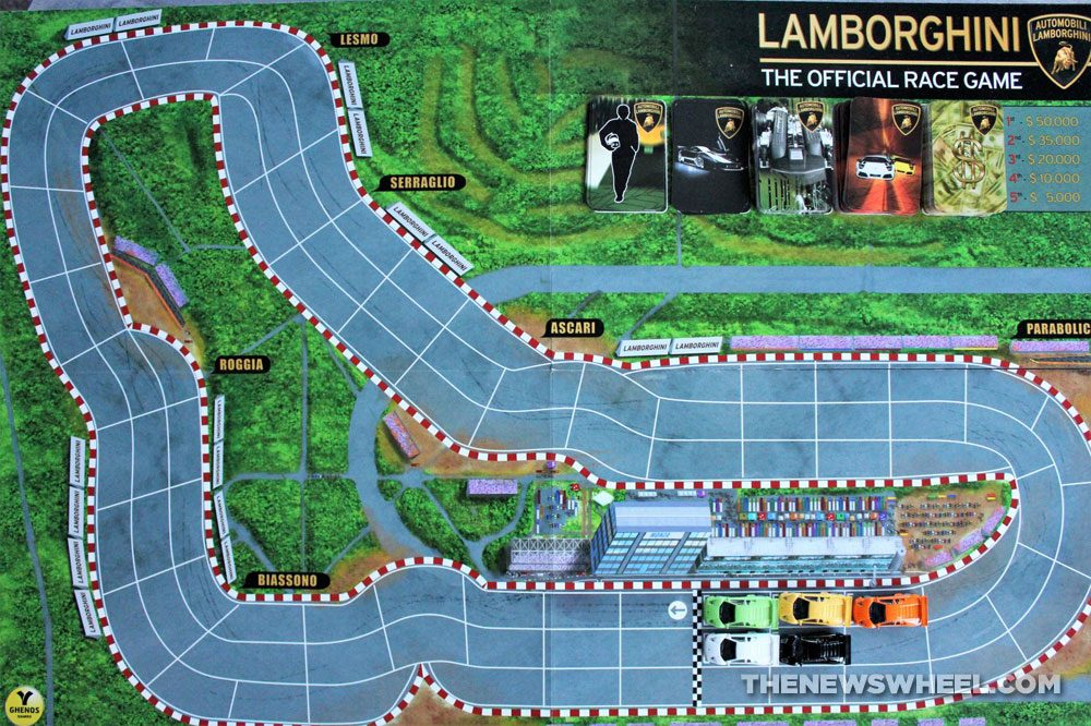 Official Lamborghini Board Game review racing cars Monza track