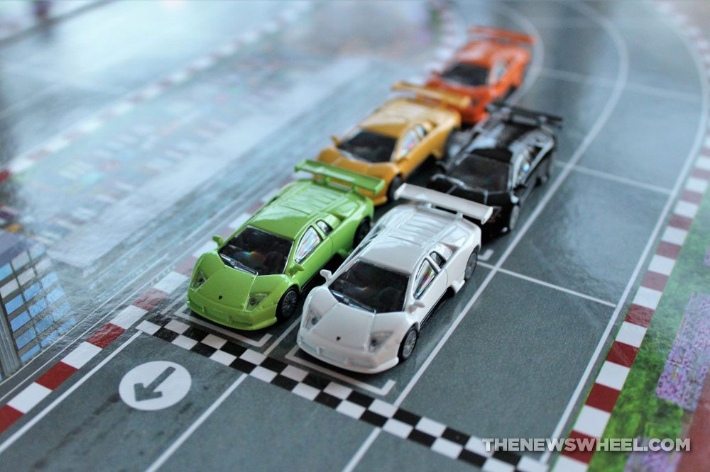 Official Lamborghini Board Game review racing cars Murcielago R-GT toys